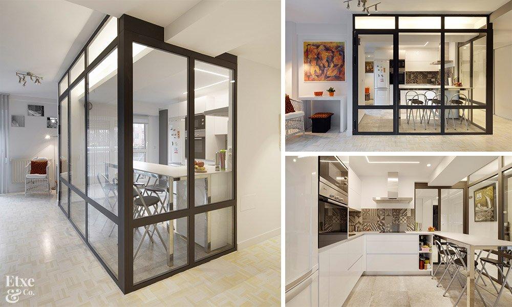 Puertas puertas correderas industrial hierro - Cocinas de cristal ...