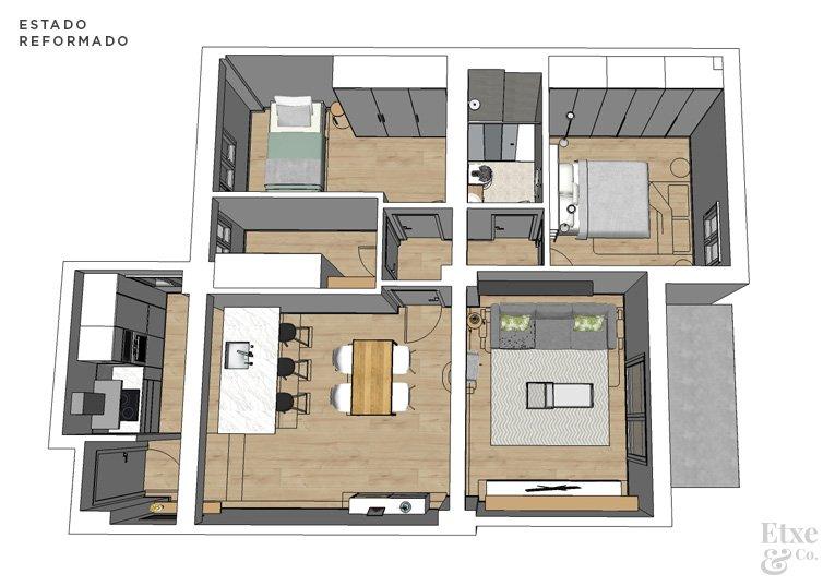 Precio reforma integral piso 70 metros best elegant for Precio metro cuadrado reforma integral
