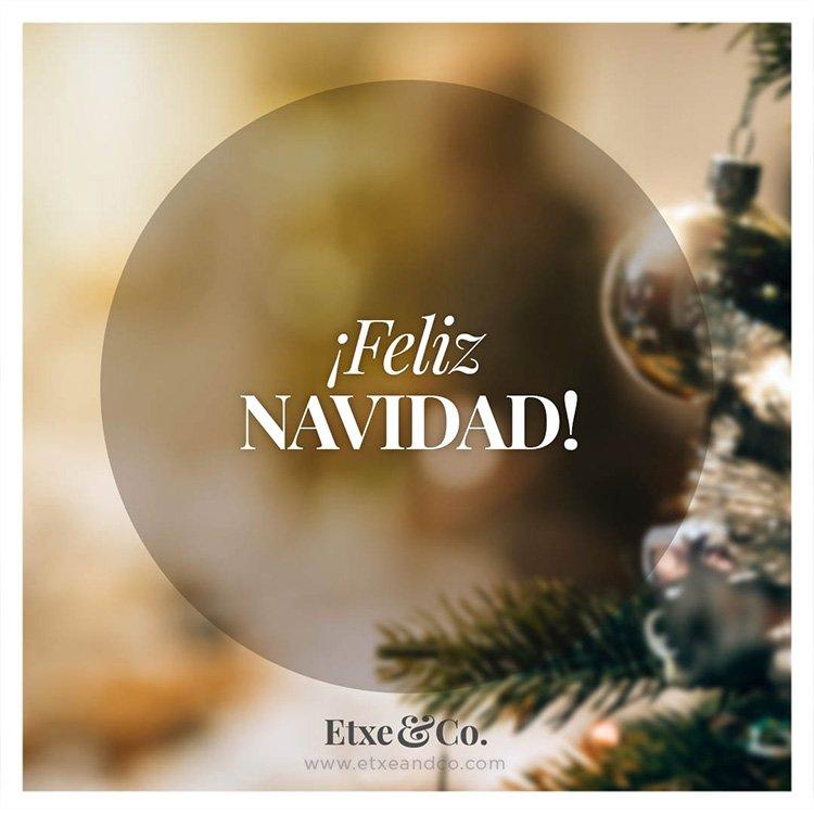 ¡Feliz Navidad de parte de Etxe&Co!